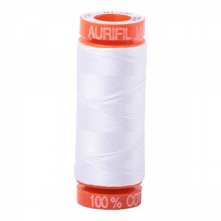 Aurifil Mako Cotton Embroidery Thread 50 wt. 220 yds White 2024