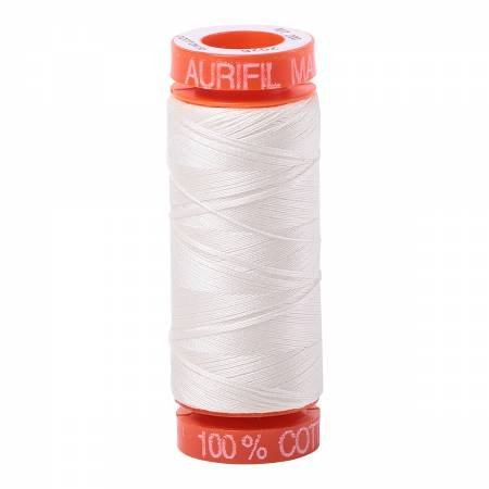 Aurifil Mako Cotton Embroidery Thread 50 wt. 220 yds Cream 2026