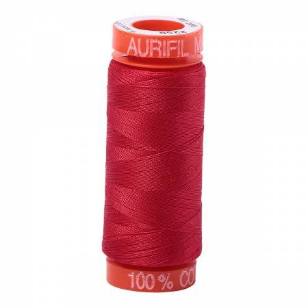 Aurifil Mako Cotton Embroidery Thread 50 wt. 220 yds Red 2250
