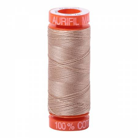 Aurifil Mako Cotton Embroidery Thread 50 wt. 220 yds Beige 2314