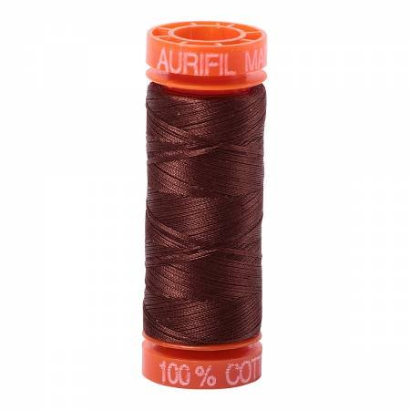 Aurifil Mako Cotton Embroidery Thread 50 wt. 220 yds Chocolate 2360