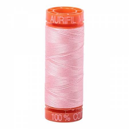 Aurifil Mako Cotton Embroidery Thread 50 wt. 220 yds Blush 2415