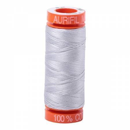 Aurifil Mako Cotton Embroidery Thread 50 wt. 220 yds Grey 2600