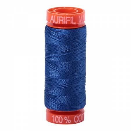 Aurifil Mako Cotton Embroidery Thread 50 wt. 220 yds Medium Blue 2735