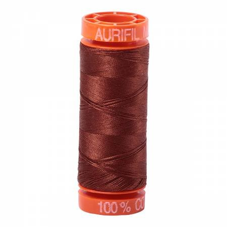 Aurifil Mako Cotton Embroidery Thread 50 wt. 220 yds Bronze 4012