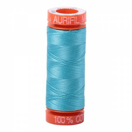 Aurifil Mako Cotton Embroidery Thread 50 wt. 220 yds Bright Turquoise 5005
