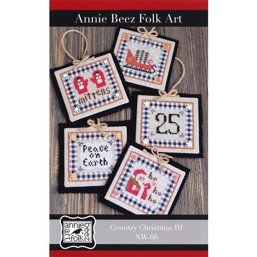PT CS Annie Beez Folk Art Country Christmas III