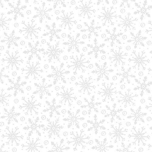 Blank All That Glitters Is Snow Snowflakes White on White