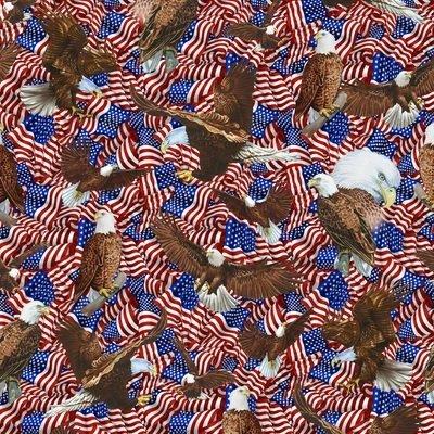 Fabri-Quilt Inc American Pride Flags & Eagles