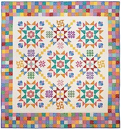 BK Q Aunt Grace Baskets of Scraps Pattern & Template