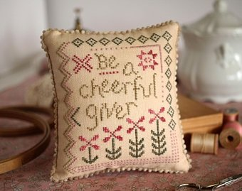 Kit CS October House Cheerful Giver 32ct