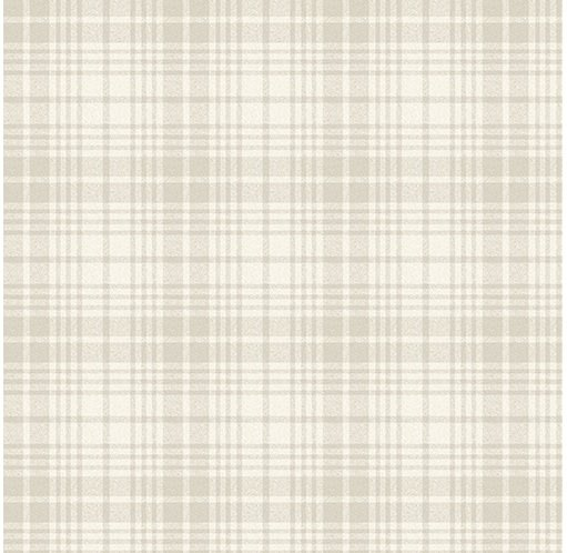 Benartex A Very Wooly Winter Wooly Wool Plaid White
