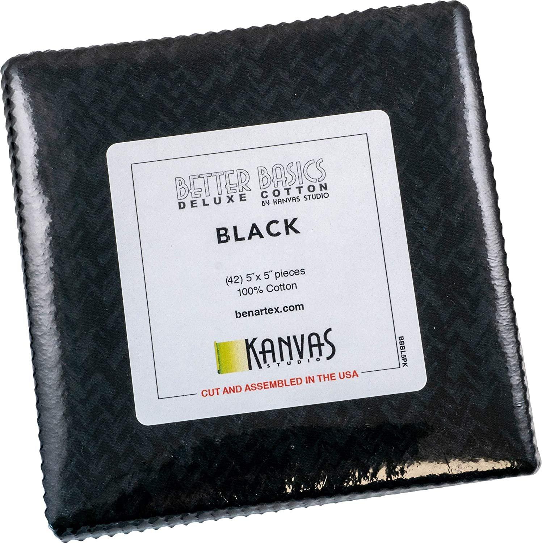 Benartex Better Basics 5x5 Black
