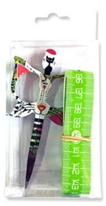Scissors - Bohin Cat Design 3.5 Green Scissor Gift Set
