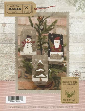 PT W BMB Christmas Ball Jar Ornaments with buttons