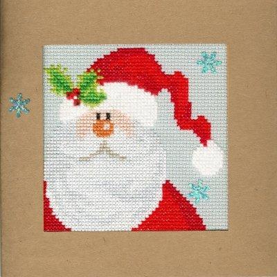 Kit CS Bothy Threads Snowy Santa Card