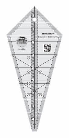 Ruler Creative Grids Starburst 30 Degree Triangle