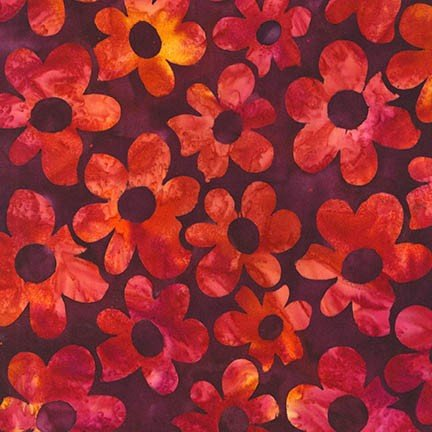 Artisan Batiks:  Daisy's Garden 3 Rose Large Flower