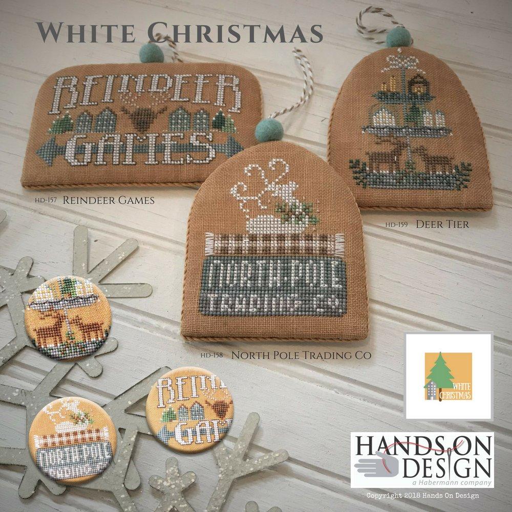 PT CS Hands On Design White Christmas Deer Tier
