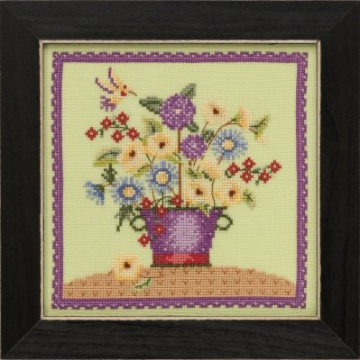 Kit CS Mill Hill Debbie Mumm Blooms and Blossoms Floral Bouquet