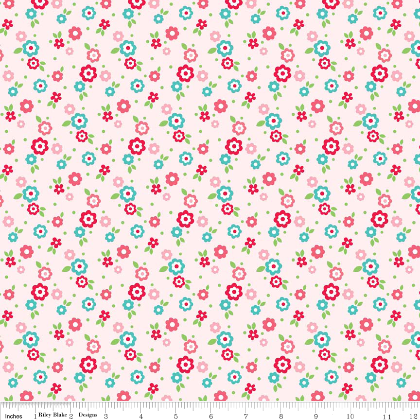 Riley Blake Designs Floral Pink