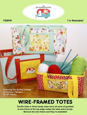 PT S Fat Quarter Gypsy Wire-Framed Totes