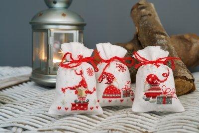 Kit CS Vervaco Christmas Gnome Bags