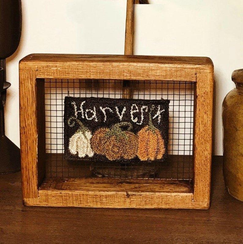 PT PN Teresa's Primitive Treasures Harvest Pumpkins