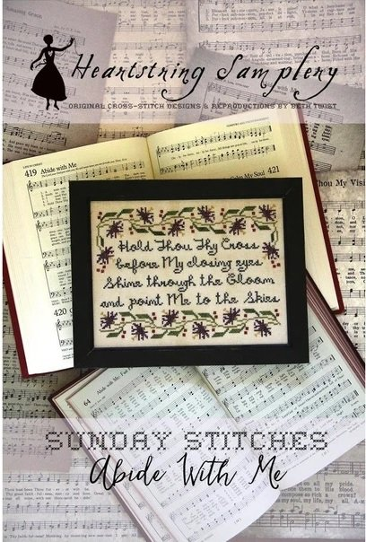 PT CS Heartstring Samplery Sunday Stitches Abide With Me
