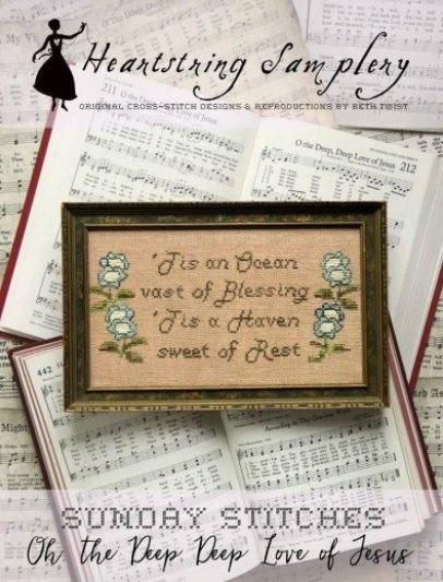 PT CS Heartstring Samplery Sunday Stitches Oh the Deep Deep Love of Jesus