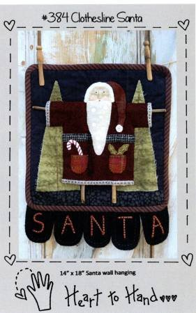 PT W Heart to Hand Clothesline Santa