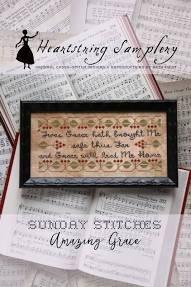 PT CS Heartstring Samplery Sunday Stitches Amazing Grace