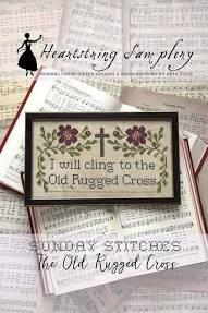 PT CS Heartstring Samplery Sunday Stitches The Old Rugged Cross