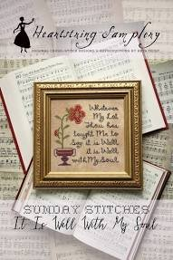 PT CS Heartstring Samplery Sunday Stitches It Is Well With My Soul