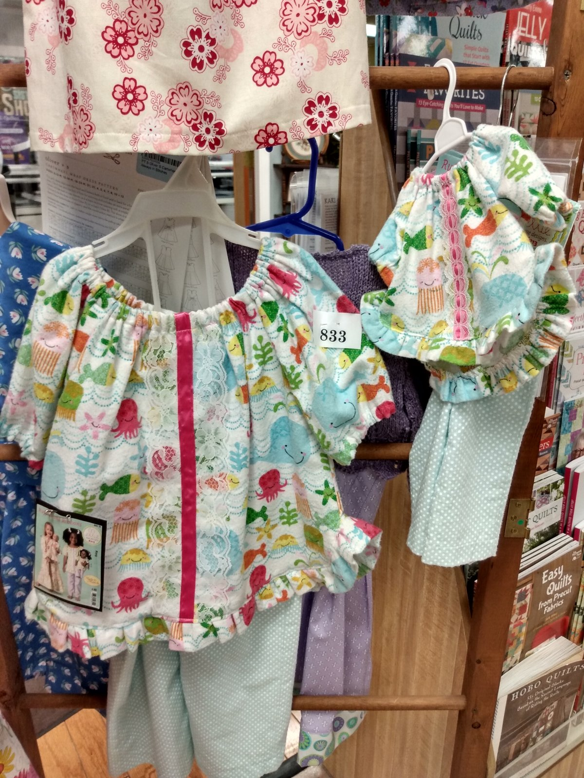 Sample - S Ellie Mae Designs Ruffles and Ribbons Pajamas - JV 1/13/17