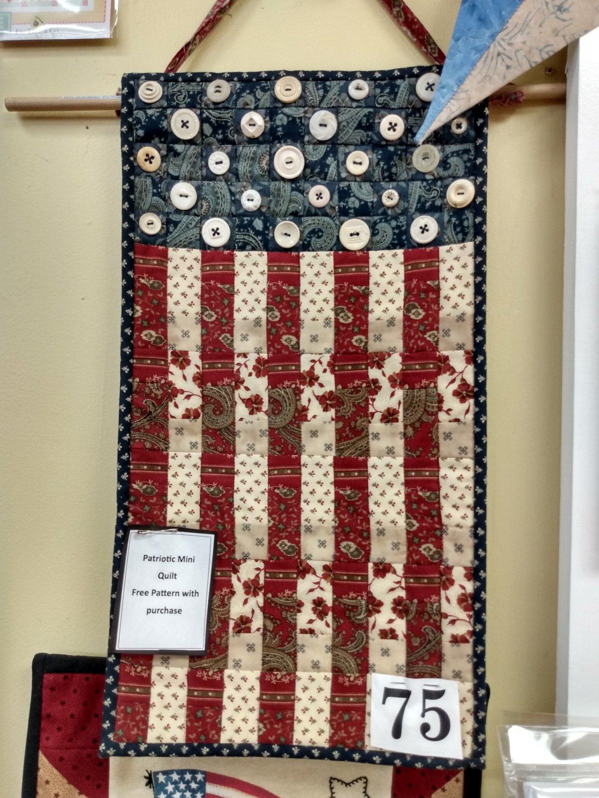 Kit Q Patriotic Mini Quilt #16