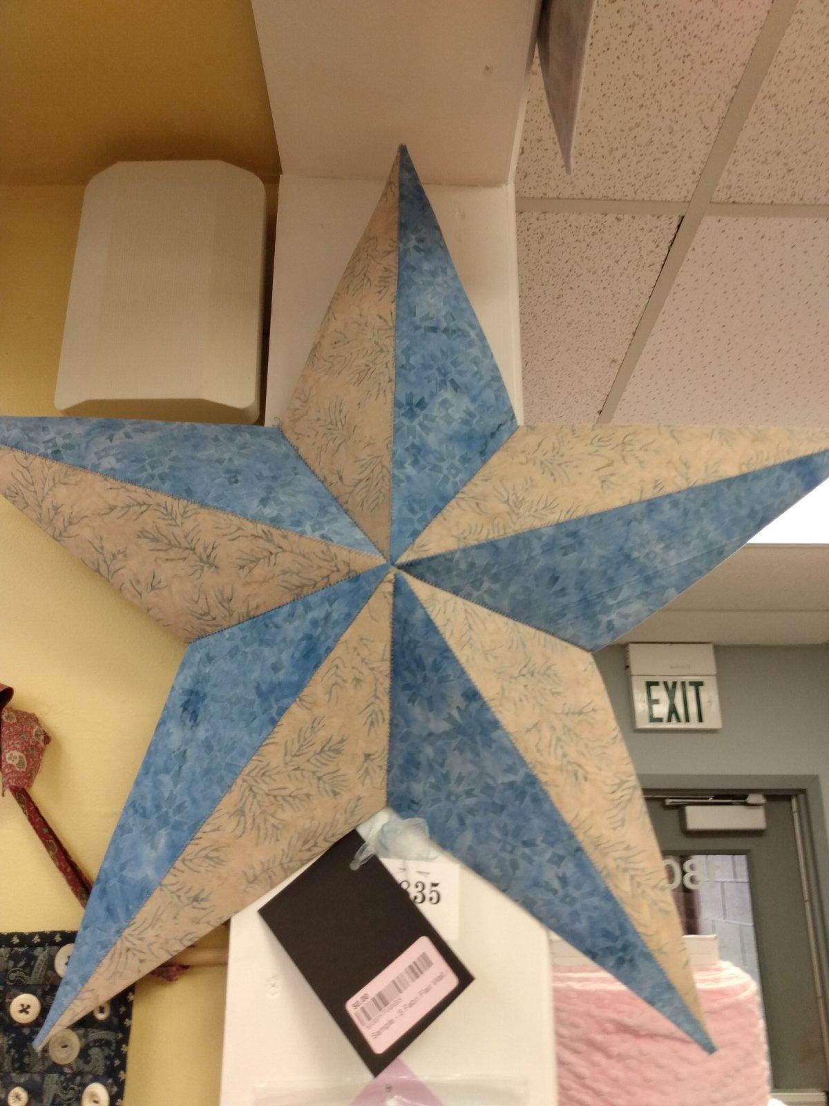 Sample - S Fabri Flair Wall Art Batik Star - LB 9/1/17