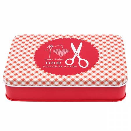Lori Holt Sewing Tin Set Stationary Red