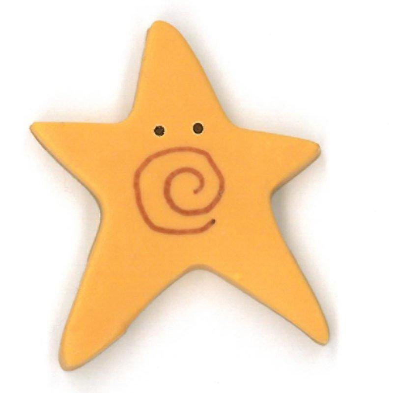 JAB Extra Large Star Golden Swirly Star