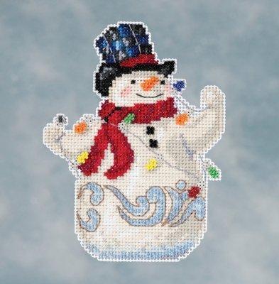 CS Kit Mill Hill Jim Shore Snowman with Lights