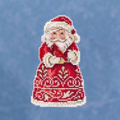 CS Kit Mill Hill Jim Shore Santa with Cardinal