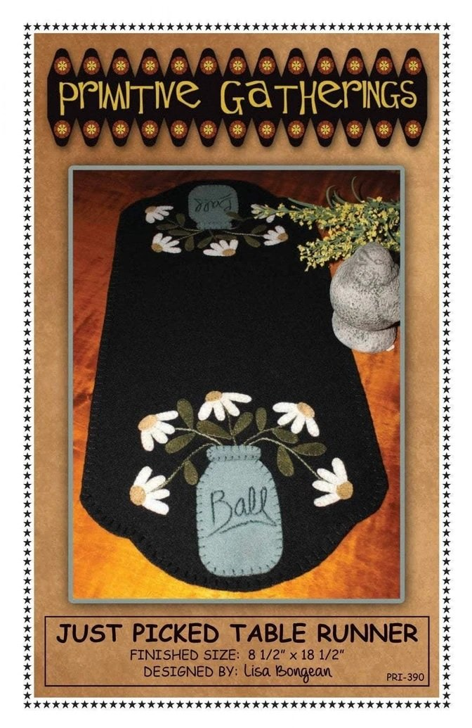 PT W Primitive Gatherings Just Picked Table Runner
