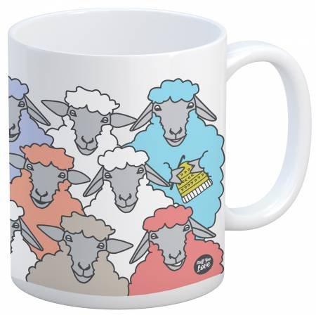 Mug - Knit Happy Colorful Sheep