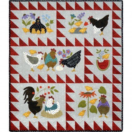 Maywood Studio Here A Chick, There a Chick Precut Quilt Kit