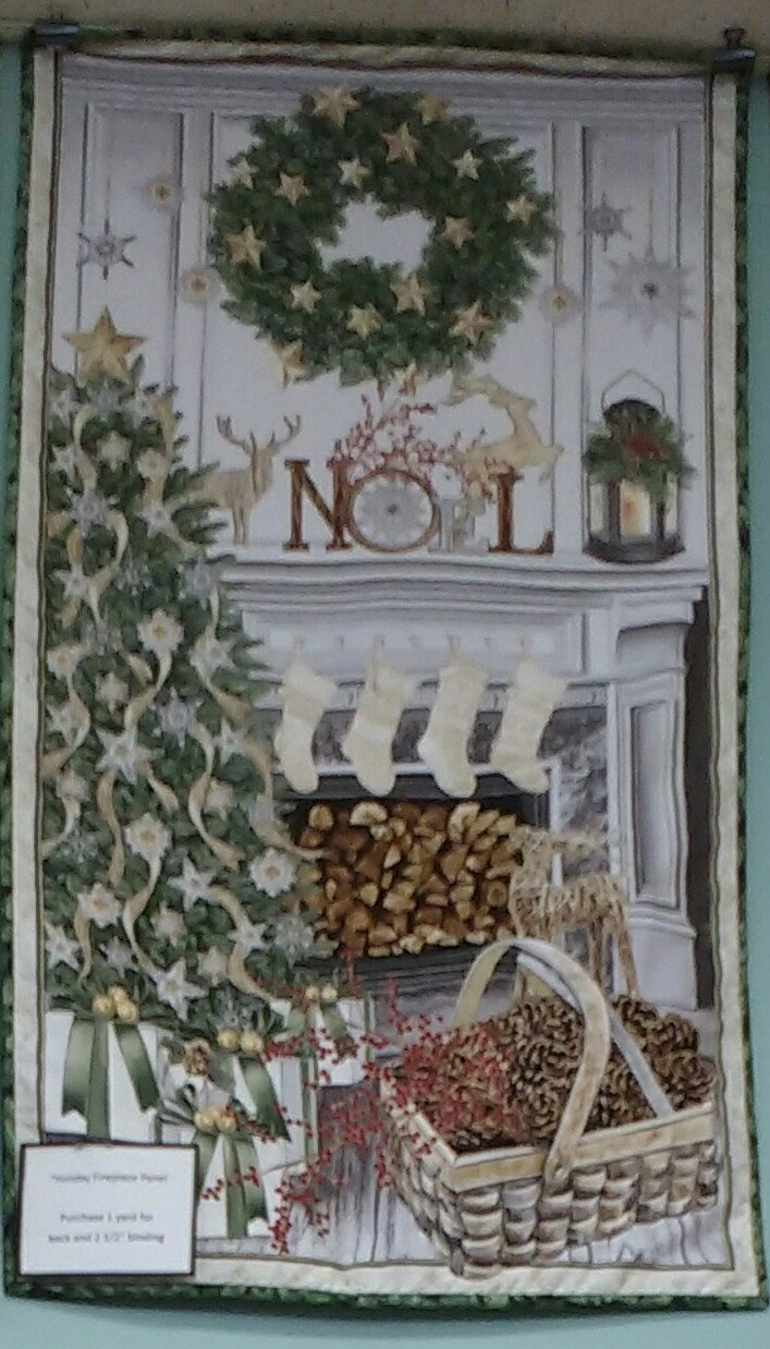 Kit Holiday Fireplace Wallhanging