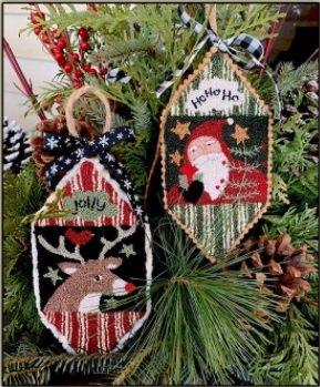 PT PN Teresa Kogut Santa & Reindeer Ornaments