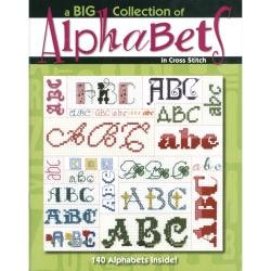 BK CS Leisure Arts A Big Collection of AlphaBets in Cross-stitch