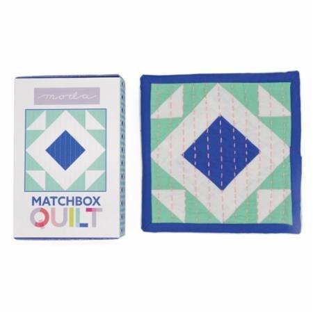 Moda Matchbox Quilt Kit Cobalt Blue