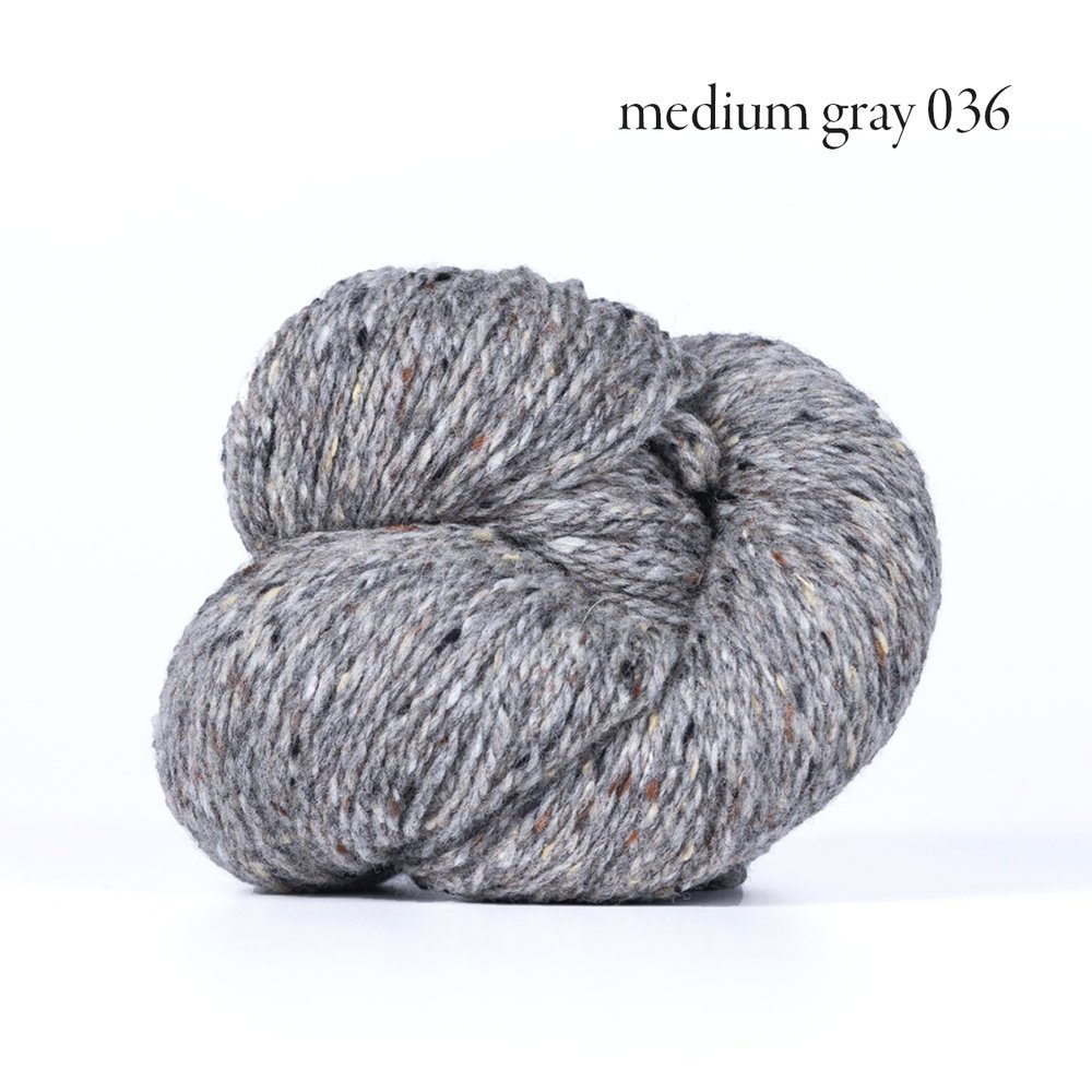Kelbourne Woolens Lucky Tweed Med Gray