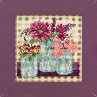 CS Kit Mill Hill Buttons & Beads Spring Cut Flowers